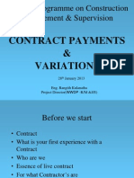 contract payment and variation