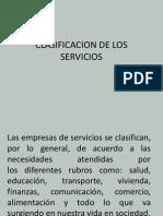 Clasificacion de Los Servicios