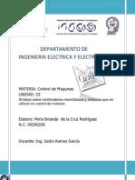 Síntesis sobre rectificadores monofásicos y trifásicos que se utilizan en control de motores.