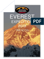 EVEREST EXPEDITION 2013 TRIP NOTES