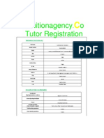 Tutor Registration Form