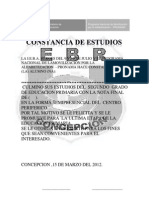 Constancia de Estudios Penal