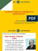 EL LEONISMO Y PARTICIPACIÓN DE LA MUJER