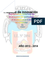 Proyecto de Innovacion de La i.e. 2094 2013 -2014