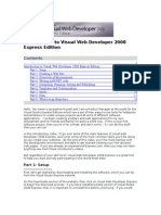 Introduction to Visual Web Developer 2008 Express Edition Transcript