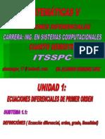 Tema 1.1. Definiciones (ED, Orden, Grado y Linealidad) (Actualizado)