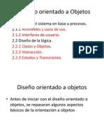 2. Diseño orientado a Objetos. diapositivas.