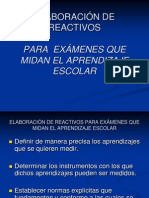 ELABORACIÓN DE REACTIVOS