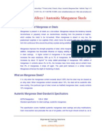 Austenitic Manganese Steels