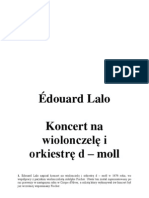 Lalo Koncert Wiolonczelowy, Analiza