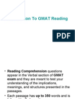 GMAT Reading Comprehension Practice Test