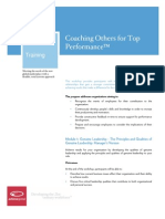 Coaching Others for Top Performance