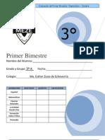 EXAMEN 3º PRIMER BIMESTRE