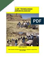 Taller Tecnologias Agroecologicas