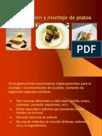 Presentacion y Montaje de Platos