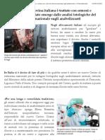 Il 15x100 della carne bovina italiana è trattato con ormoni e sostanze vietate. Il dato emerge dalle analisi istologiche del Centro di referenza nazionale sugli anabolizzanti