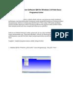 Pengoperasian Software QM for Windows 2