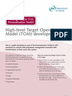 High-Level Target Operating Model TOM Development