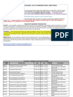 2012-13 Semester 2 Exams Schedule