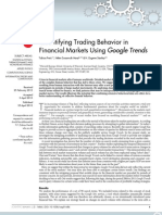 Quantifying Trading Behavior in Financial Markets Using Google Trends