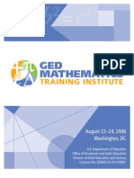 GED Mathematics Training Instit