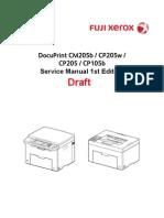 DocuPrint CM205b_CP205w_CP205_CP105b Service Manual Draft