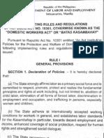 Kasambahay Law IRR