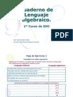 Cuaderno de Lenguaje Algebraico (1er ciclo ESO)