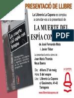 Presentacio La Muerte Del Espia Con Bragas_2013