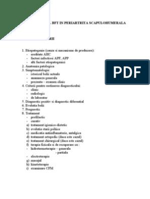 tratamentul periartritei post-traumatice a articulației umărului