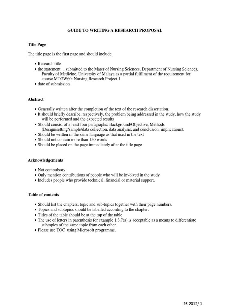 kuhs research proposal format