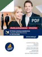 Informator 2013 - Studia Podyplomowe - Wyższa Szkoła Bankowa w Poznaniu Wydział Ekonomiczny w Szczecinie