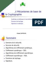 Mécanismes de base de la Cryptographie