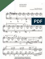 Aram Khachaturian Adagio From Spartacus Piano Solo Sheet Music