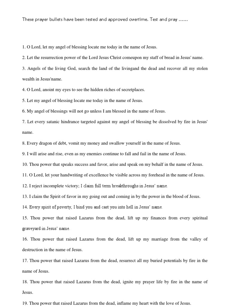 The 17 Miracle Prayer Points