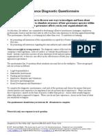 Governance - Diagnostic Questionnaire