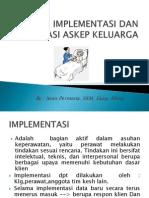 Implementasi Dan Evaluasi Askep Keluarga
