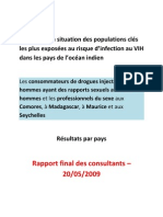 Rapport final 2009 - Populations Clés à Risque