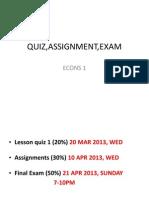 DipCom BA5A ECONS1 Quiz Assignment Exam