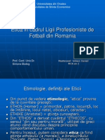 Etica in Cadrul Ligii Profesioniste De