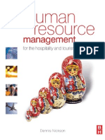 PERSONNEL MANAGEMENT Human Resource Management for the Hospitality and Tourism Industries