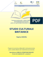 Reghina Dascal - British Studies Course