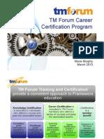 Tm Forum Career Certification Program Overview