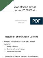 Calculation of Short Circuit Current as Per IEC60909