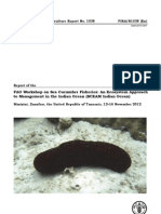 Report of the FAO Workshop on Sea Cucumber Fisheries
