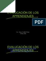 EVALUCACIÓN DE LOS APRENDIZAJES