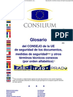 Glosario del CONSEJO de la UE de seguridad de los documentos, medidas de seguridad y otros términos técnicos conexos (por orden alfabético).pdf