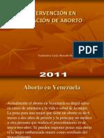 INTERVENCION EN SITUACIÓN DE ABORTO