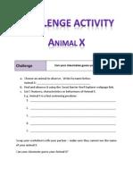 challenge activity - animal x
