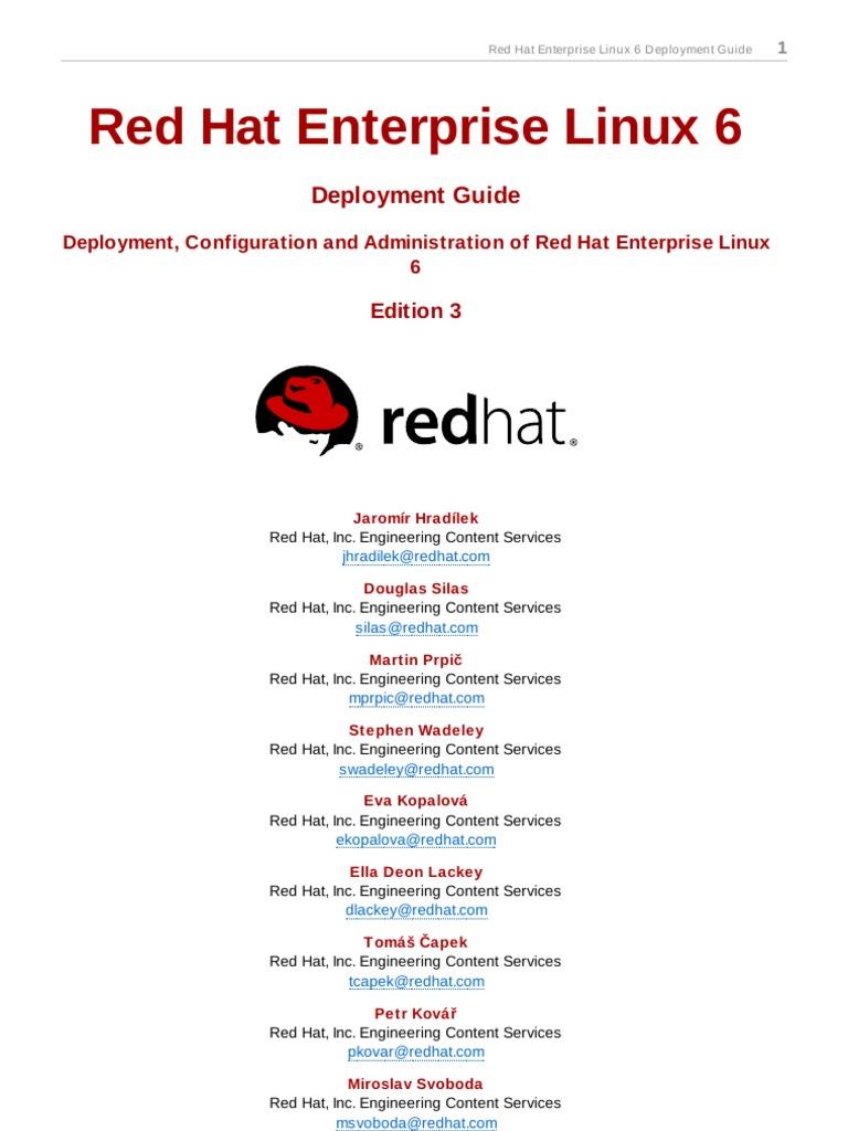 Red Hat Enterprise Linux 6 Deployment Guide en US | Secure Shell | Kernel  (Operating System)